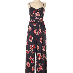 [Band Of Gypsies] Floral Rose Sweetheart Jumpsuit